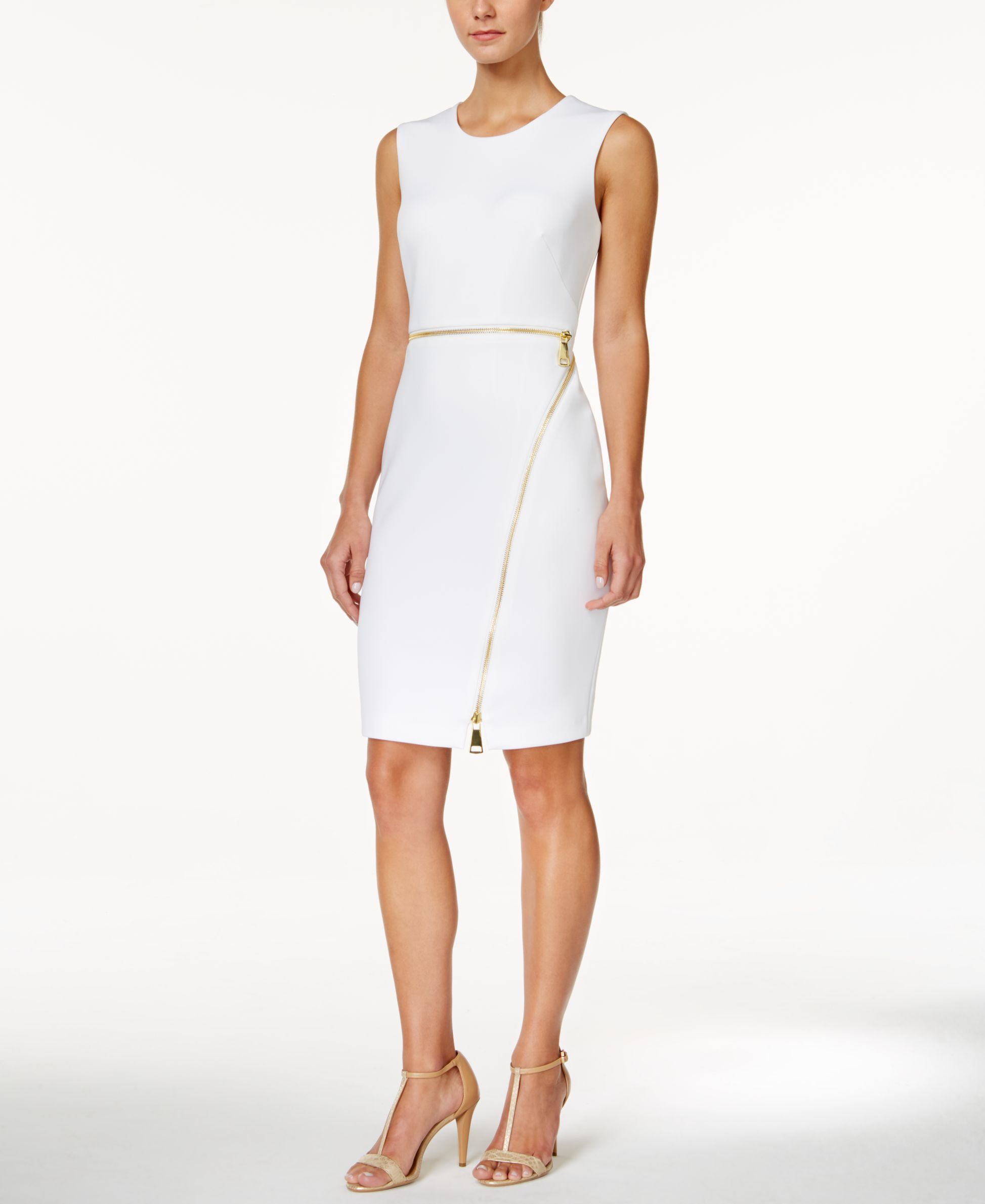 Calvin Klein Sleeveless Zipper Sheath Dress  Etuikleid