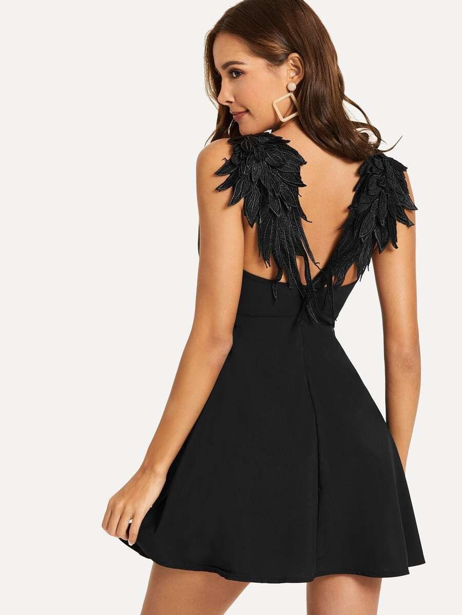 Cami Kleid Mit Flügeln Hinten  Shein  Minikleid