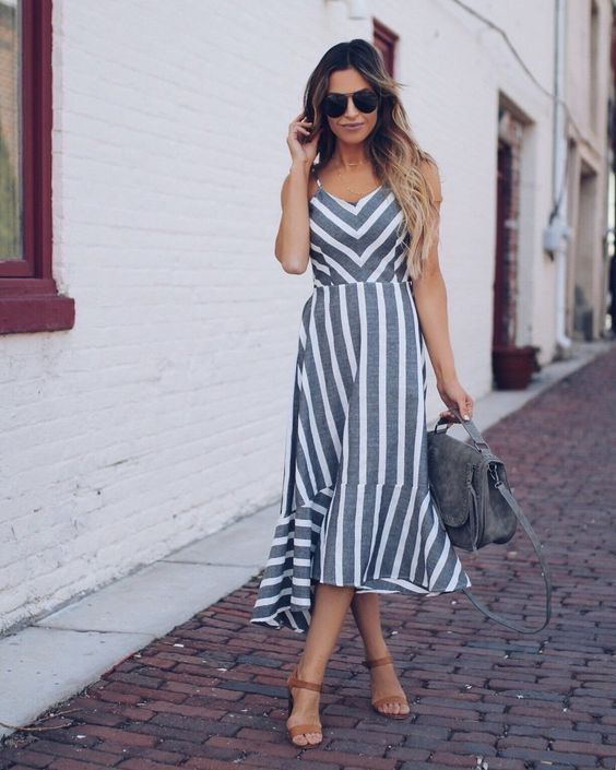Casual Chic Outfit  Sommerkleid Sommer Kleider Kleidung