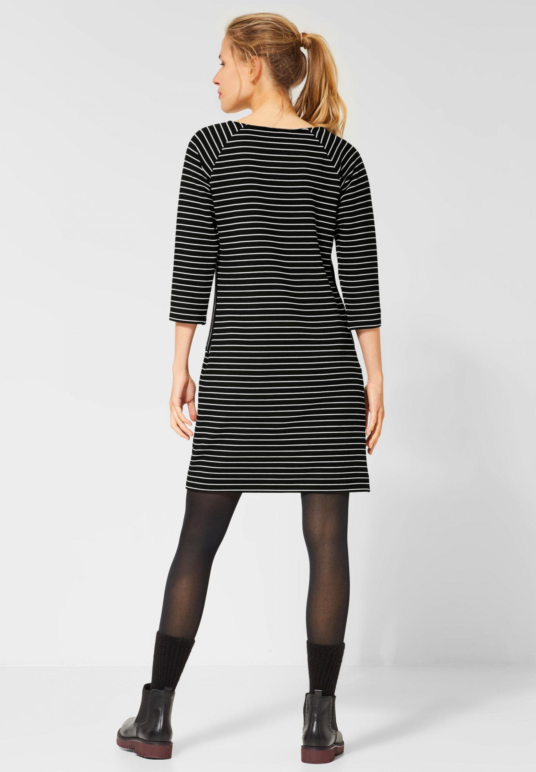 Cecil  Gestreiftes Kleid In Black Reduziert Im Sale