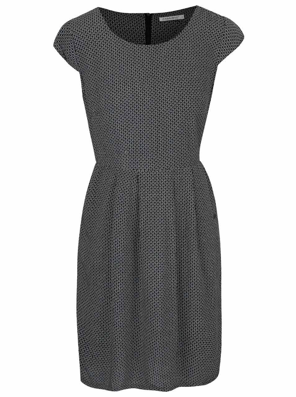 Černé Vzorované Šaty Zabaione Kleid Kathy  Zootcz