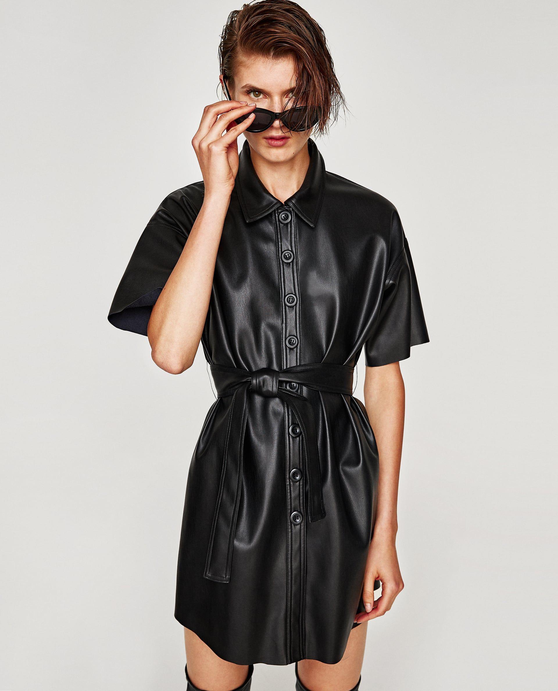 Σεμιζιε Φορεμα Με Υφη Δερματοσ  Kleider Leder