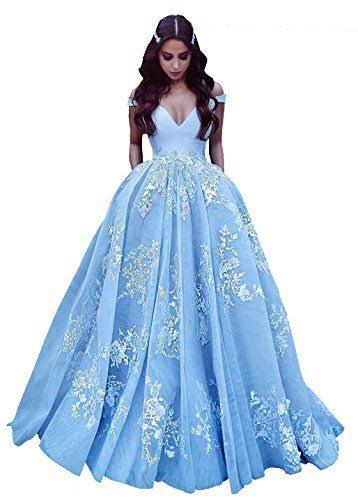 Changjie Damen Ballkleider Lang Prinzessin Abendkleider L