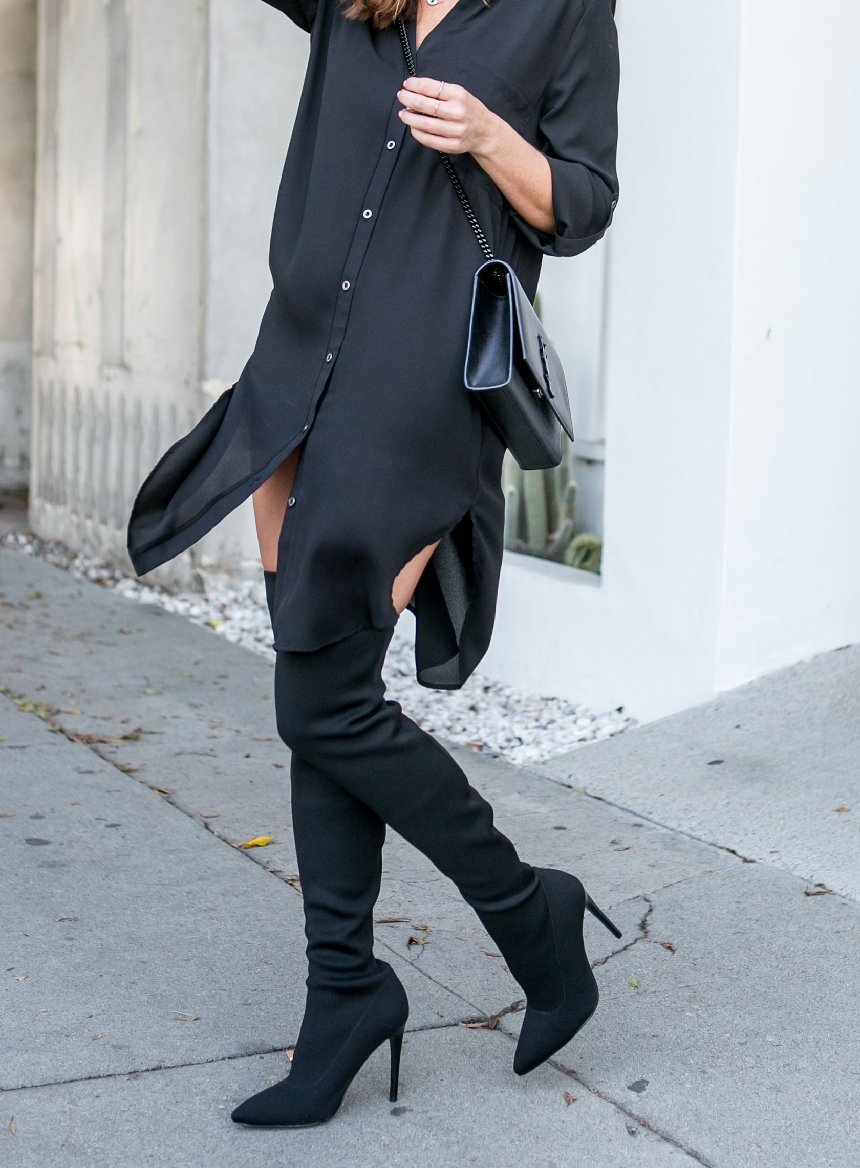 Charlize Theron'S Black Over The Knee Boots  Sommer