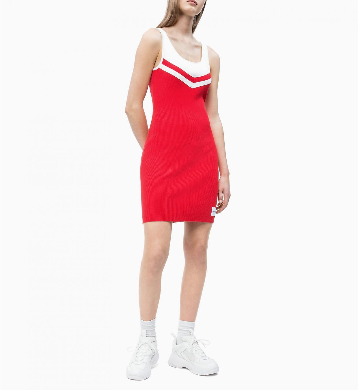 Cheerleaderkleid Aus Rippstrick Red  Calvin Klein Damen