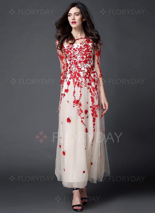 Chiffon Floral 1008700/1008700 Sleeves Maxi Vintage