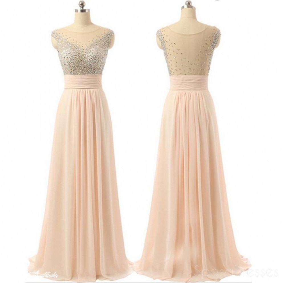 Chiffon Prom Kleiderdurchsichtige Rücken Abendkleidergünstige Abendkleider Charmante Prom
