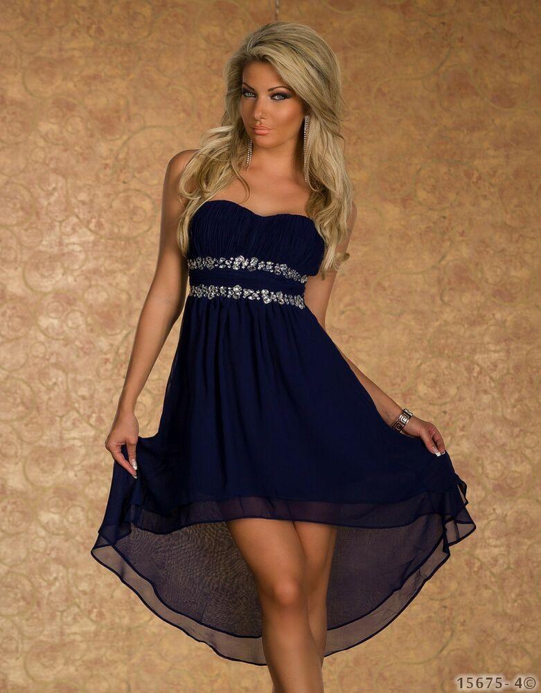 Chiffon Vokuhila Kleid Cocktailkleid Partykleid Dress
