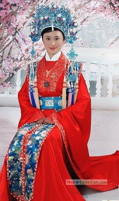 Chinese Wedding Dress And Phoenix Crown  Chinesische