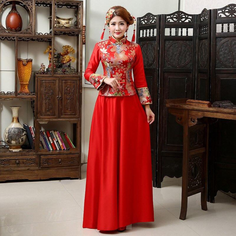 Chinesische Traditionelle Hochzeit Kleid Werbeaktionshop