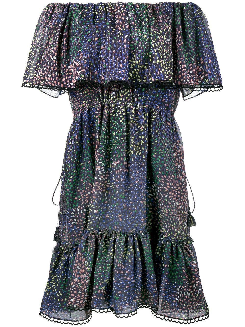 Chloé Schulterfreies Kleid Mit Feuerwerkprint