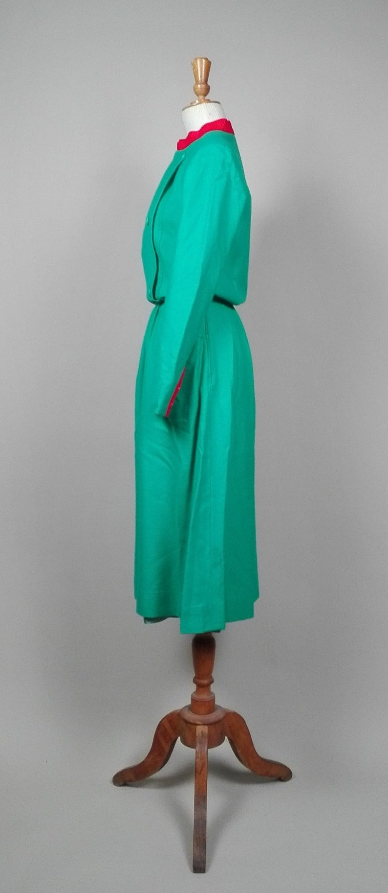 Christian Dior Boutique Vintage Kleid 1970 1980 Wolle  Etsy