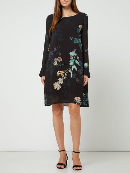 Cinque Kleid Aus Viskose Model 'Cidano' In Grau / Schwarz