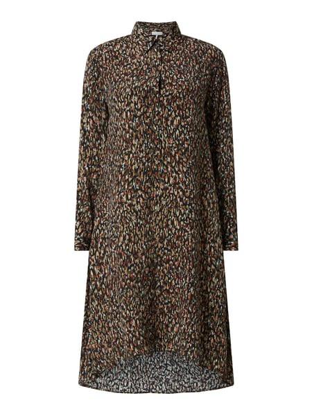 Cinque Kleid Aus Viskose Modell 'Cielia' In Grau / Schwarz