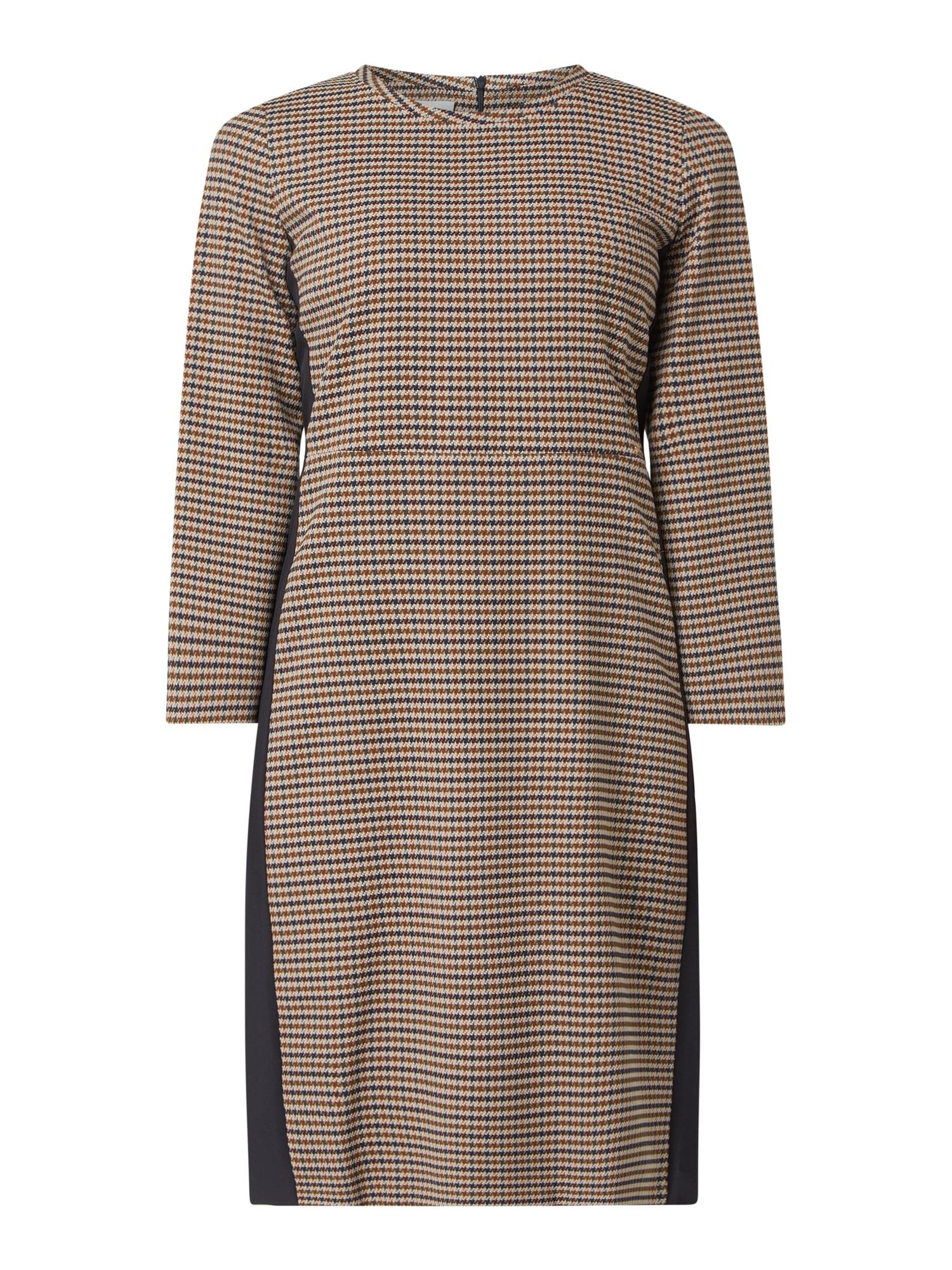 Cinque Kleid Mit Hahnentritt Modell 'Ciirsel' In Braun