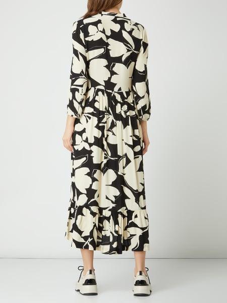 Ck Calvin Klein Kleid Aus Viskosekrepp In Weiß Online