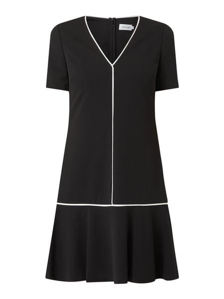 Ck Calvin Klein Kleid Mit Kontraststreifen In Grau