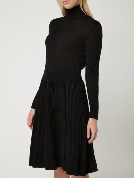 Ck Calvin Klein Strickkleid Aus Wolle Mit Rollkragen In