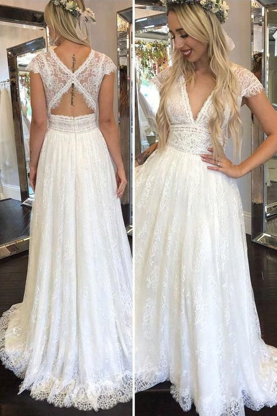 Classic Wedding Dress For Aire Boho Collection 2020 In
