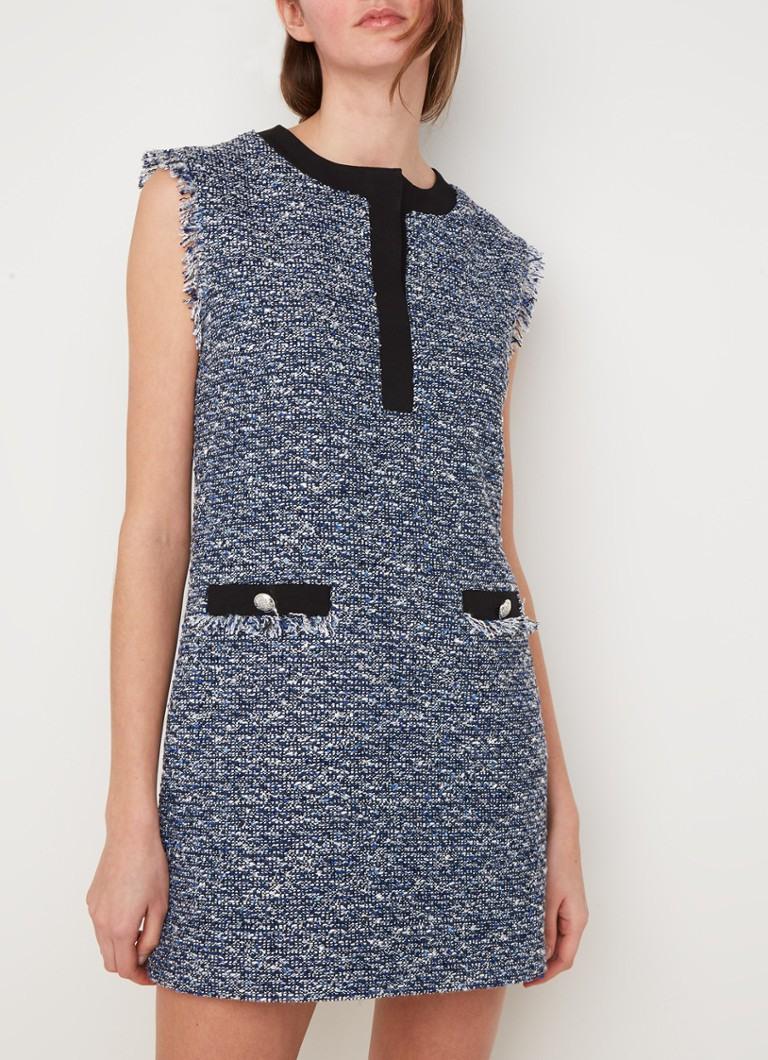 Claudie Pierlot Region Mini Bouclé Kleid Mit Ausgefranstem