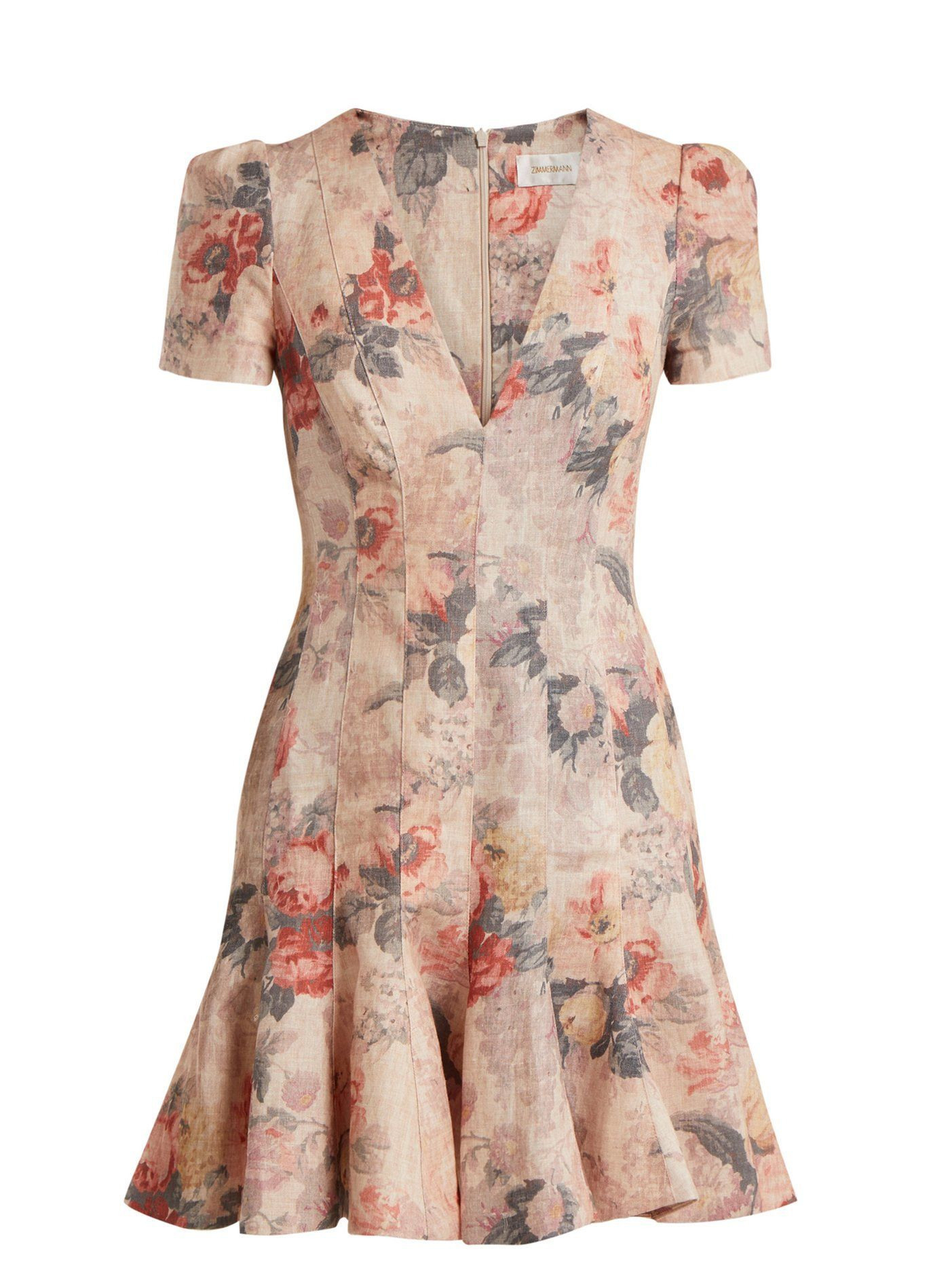 Click Here To Buy Zimmermann Radiate Flip Floral Dress At