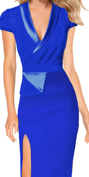 Cocktailkleid Etuikleid Grace  Blau  Drezz2Imprezz
