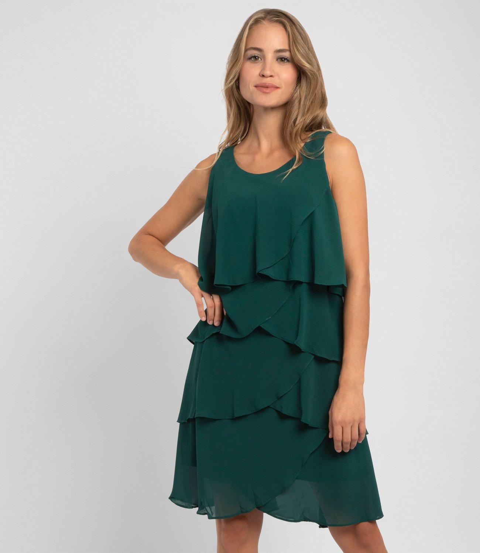 Cocktailkleid In Leichter Aform Grün  Apart Fashion