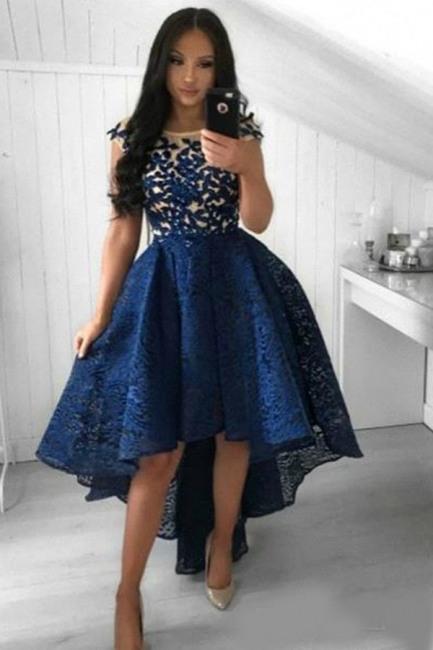 Cocktailkleid Kurz Blau  Abiballkleider Abendkleider