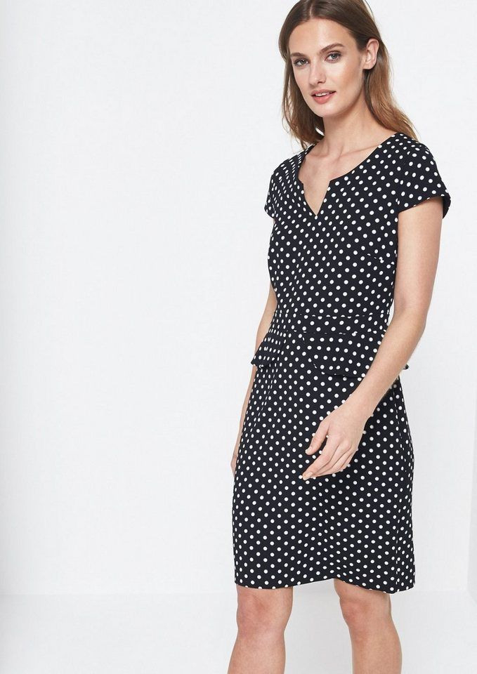 Comma Elegantes Abendkleid Mit Schößchen  Abendkleid