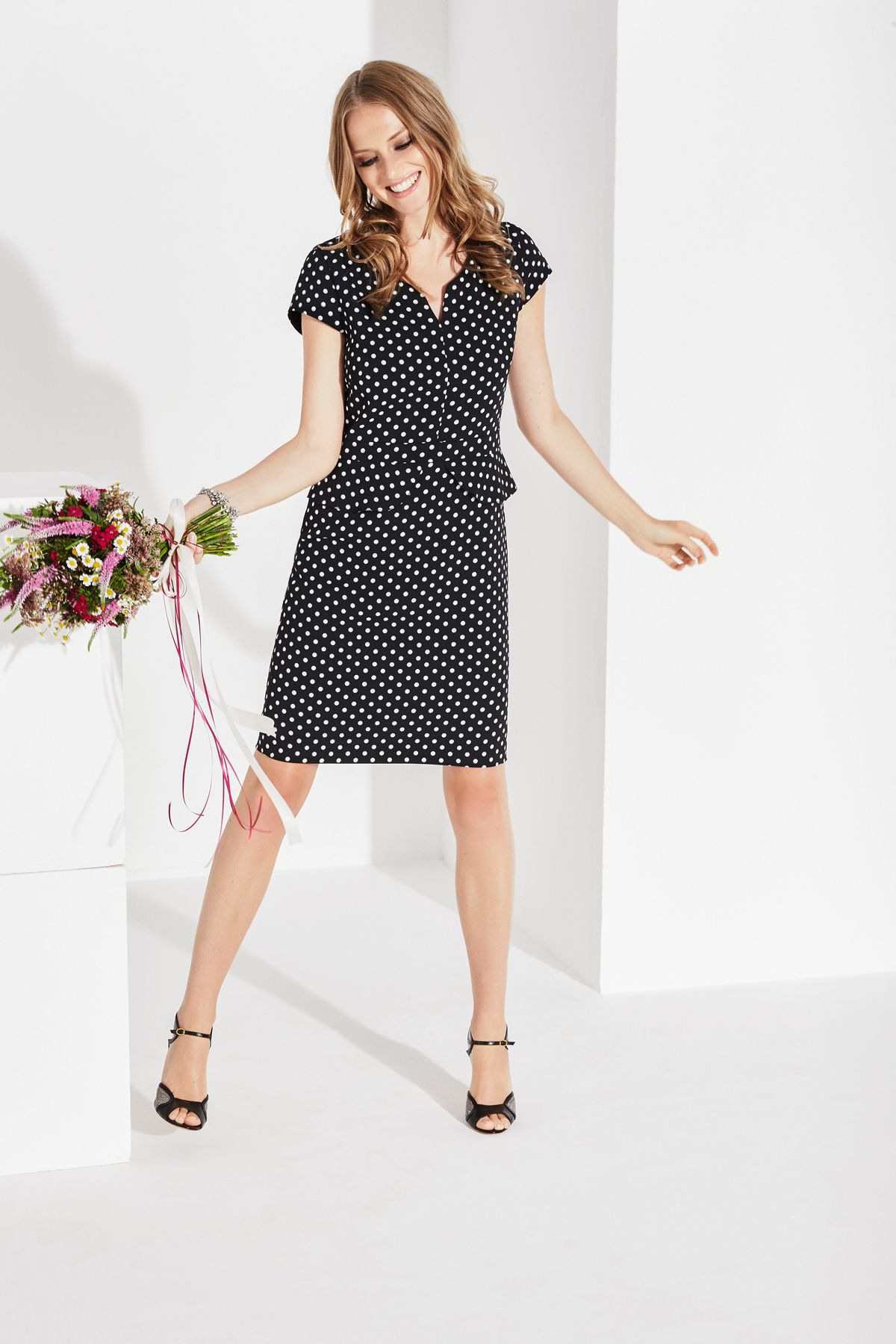 Comma Fashion  Dotted Dress  Wedding Outfit Inspiration