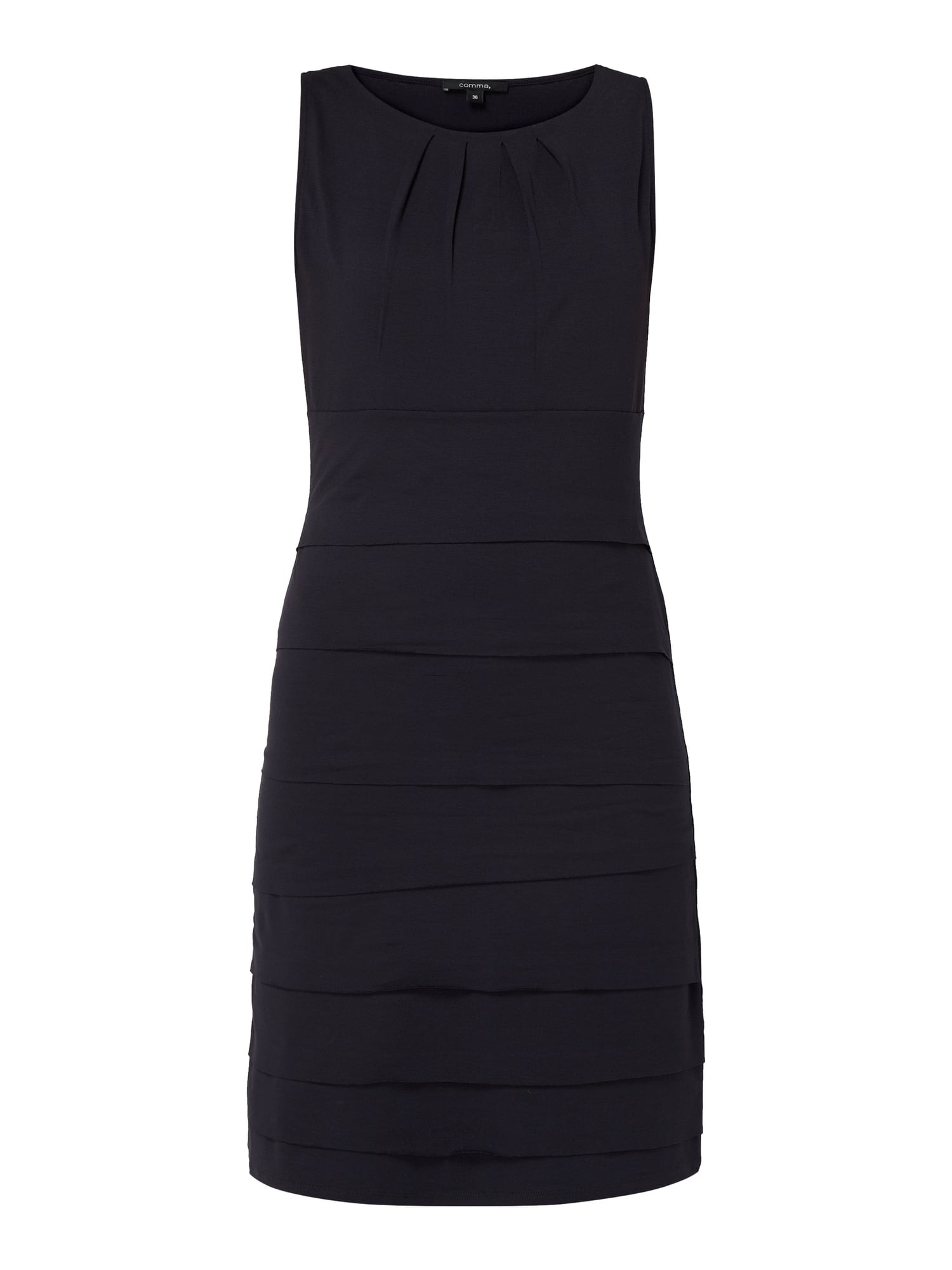 Comma Kleid Im Stufenlook In Blau / Türkis Online Kaufen