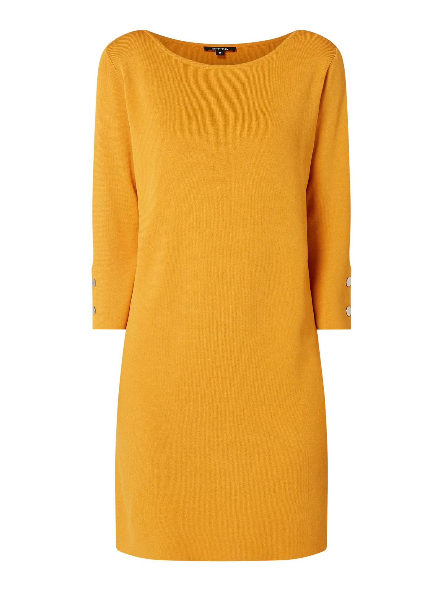 Comma Kleid Mit 3/4Arm In Gelb Online Kaufen 1204897 P