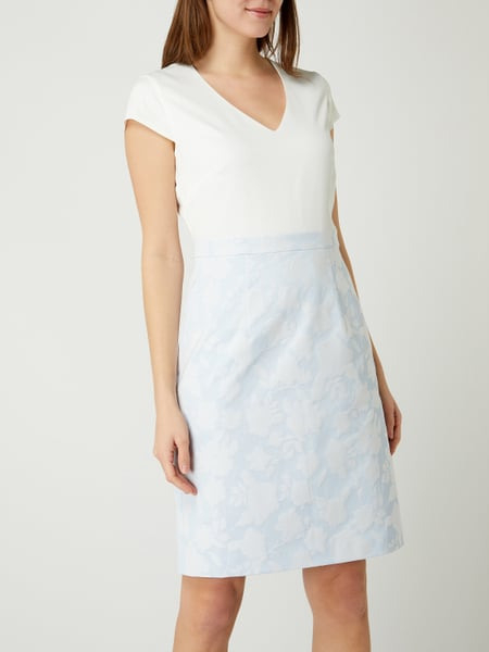 Comma Kleid Mit Floralem Muster In Blau / Türkis Online