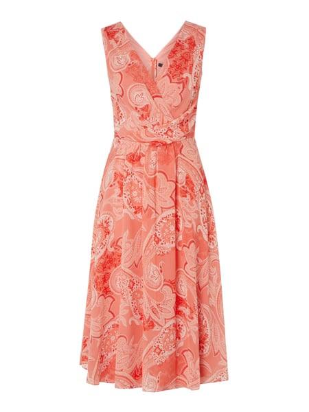 Comma Kleid Mit Paisleymuster In Rot Online Kaufen