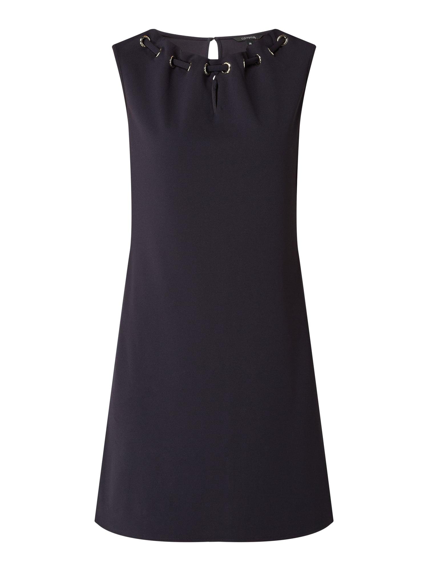 Comma Kleid Mit Schlüssellochausschnitt In Blau / Türkis