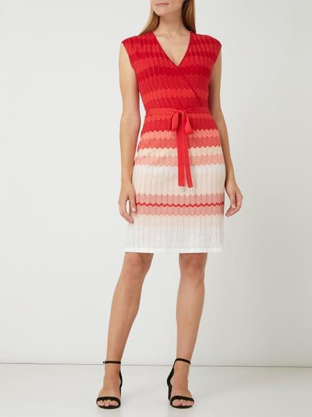 Comma Kleid Mit Zickzackmuster In Rot Online Kaufen