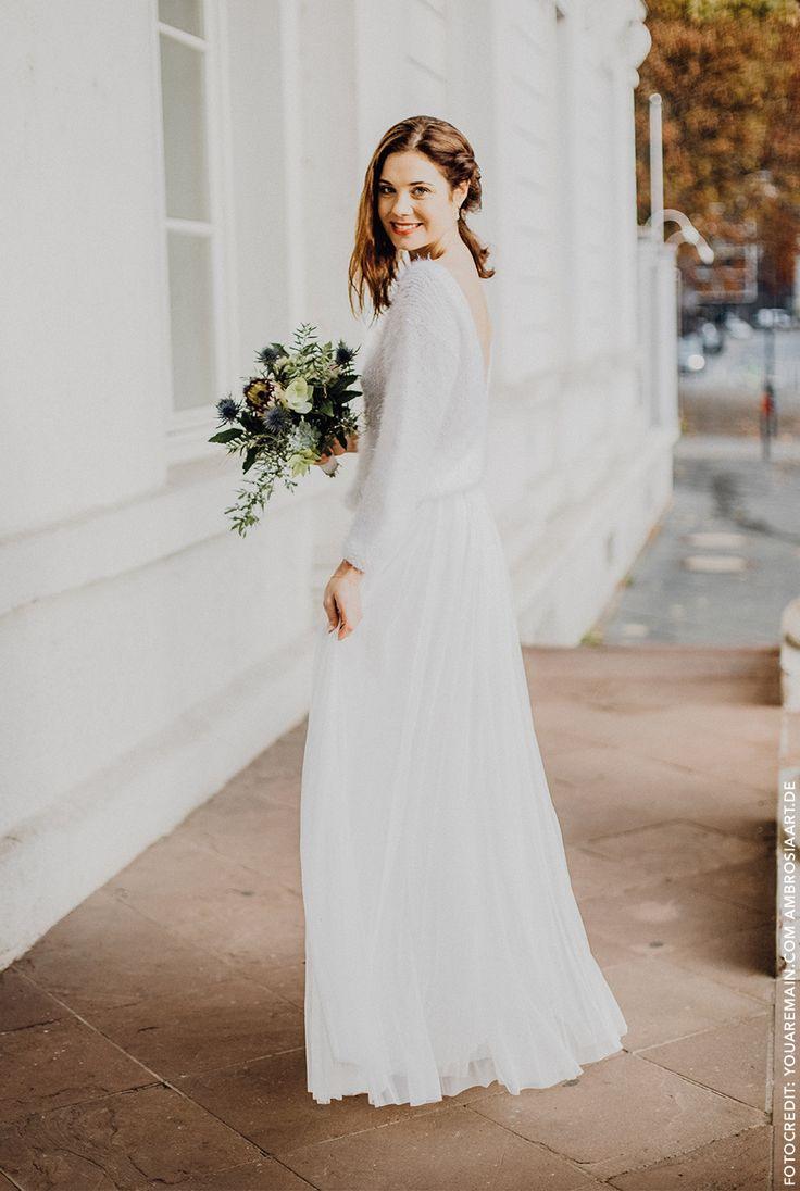 Constant Love Tüll Rock Lang  Kleid Hochzeit Brautkleid