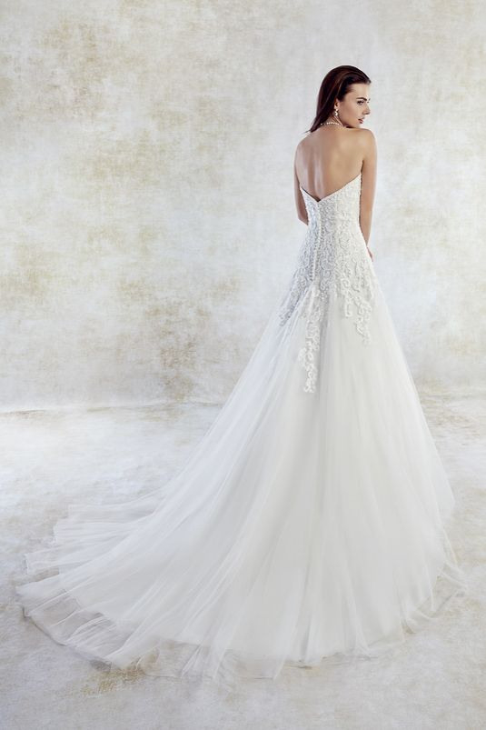 Corsagenkleid Rückenfrei  Kleid Hochzeit Braut