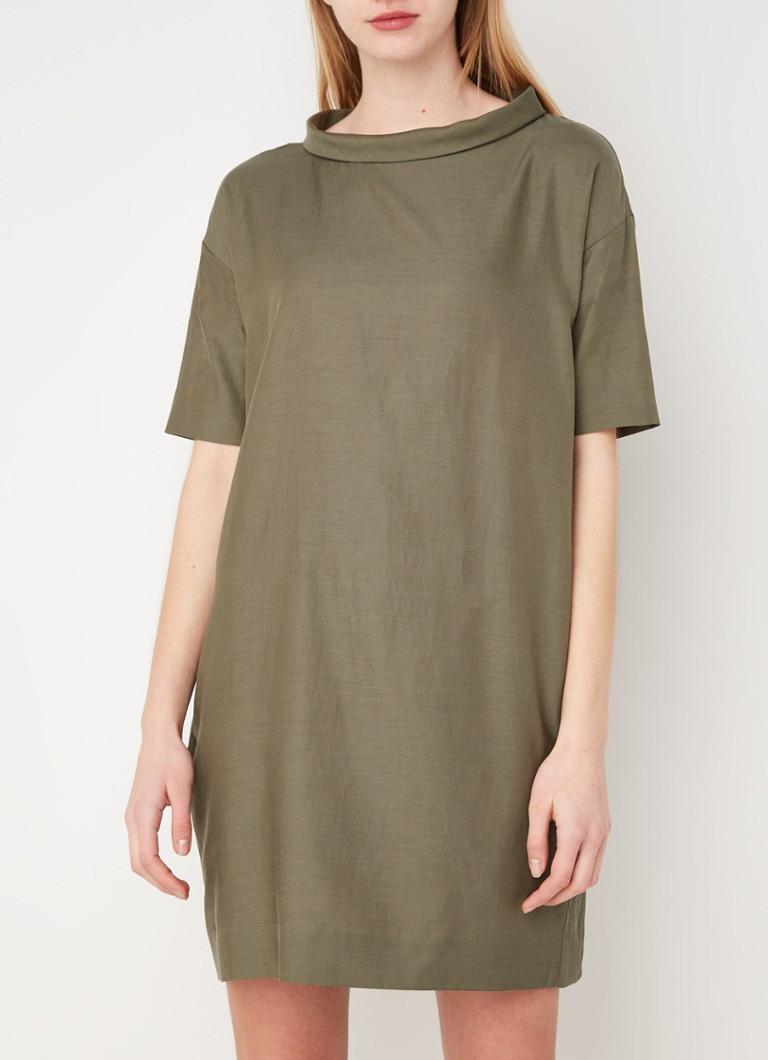 Cos Dannielda Tunika Kleid Aus Baumwollmischung • Olivgrün