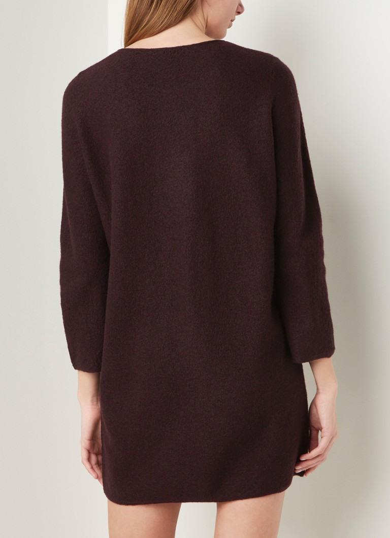 Cos Pullover Kleid Aus Wolle • Aubergine • De Bijenkorf