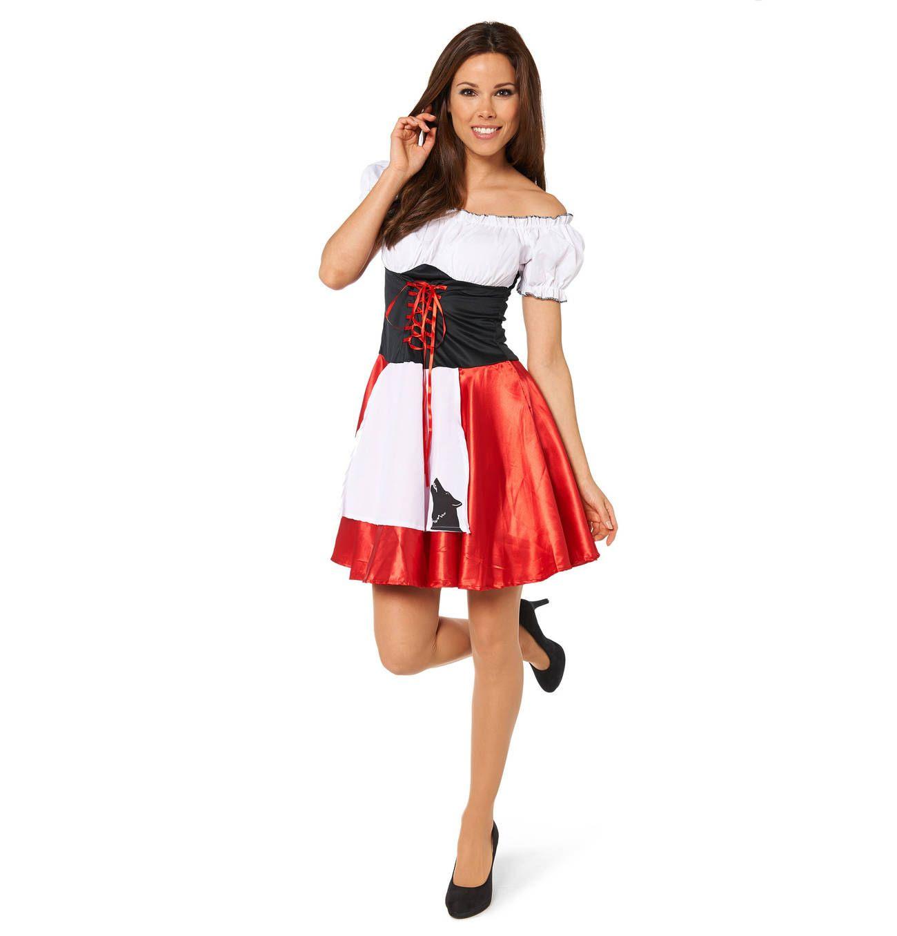 Crazy Days Karnevalskostüm Rotkäppchen Für Damen