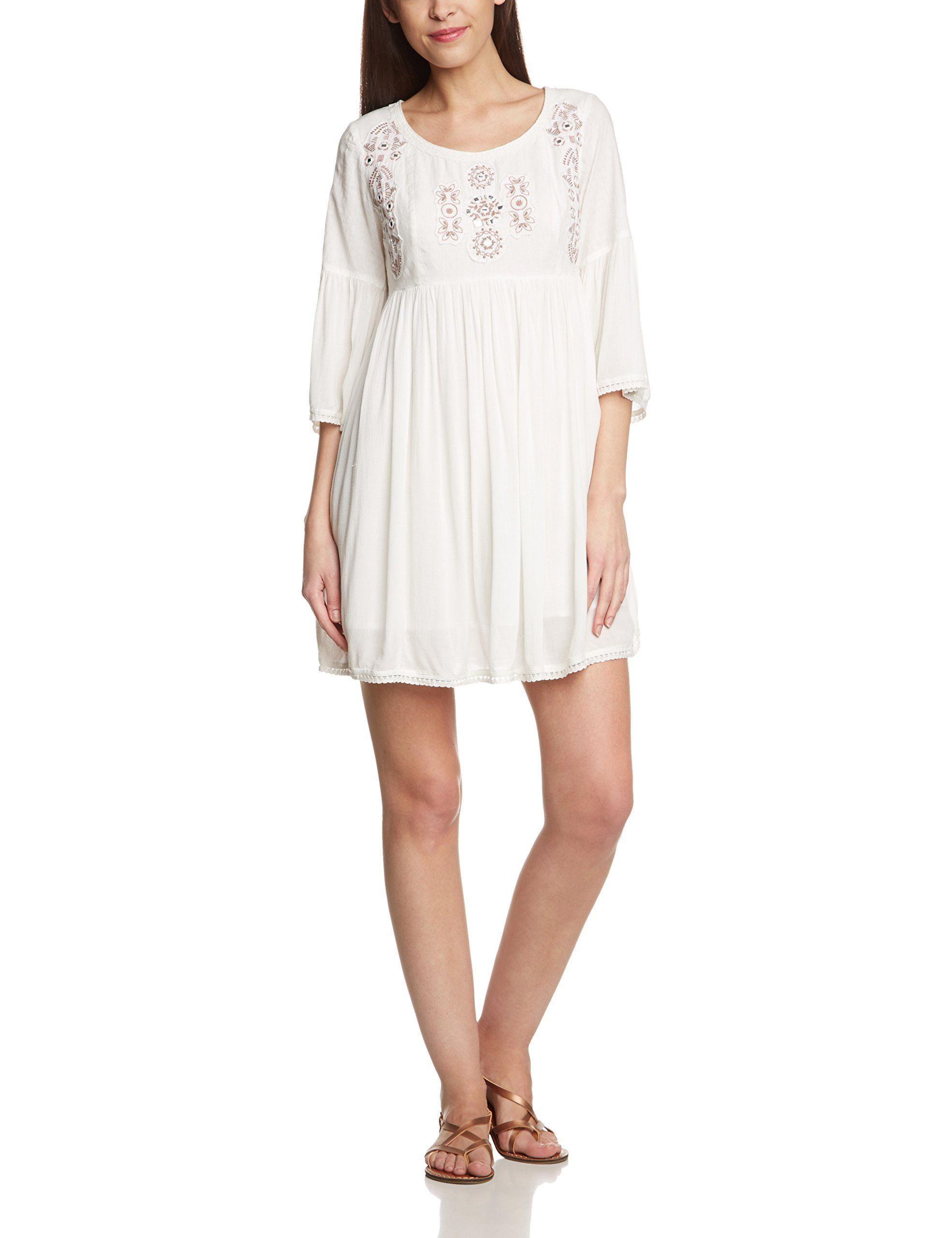 Cream Damen Tunika Kleid Sophia Tunic Midi Einfarbig Gr