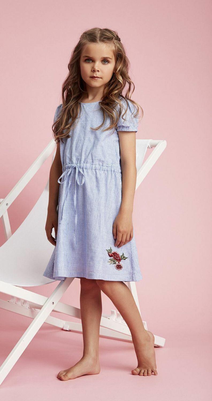 Creamie Kinder Mädchen Kleid Gestreift  Wwwkinderkram