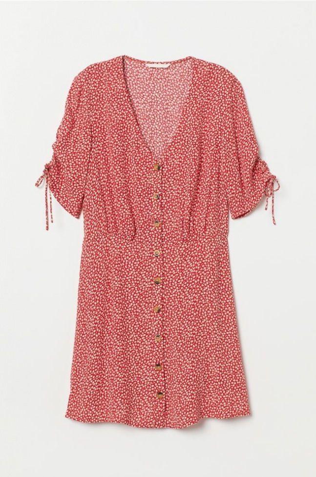 Crêped Dress  Red/Floral  Damenhmus In 2020
