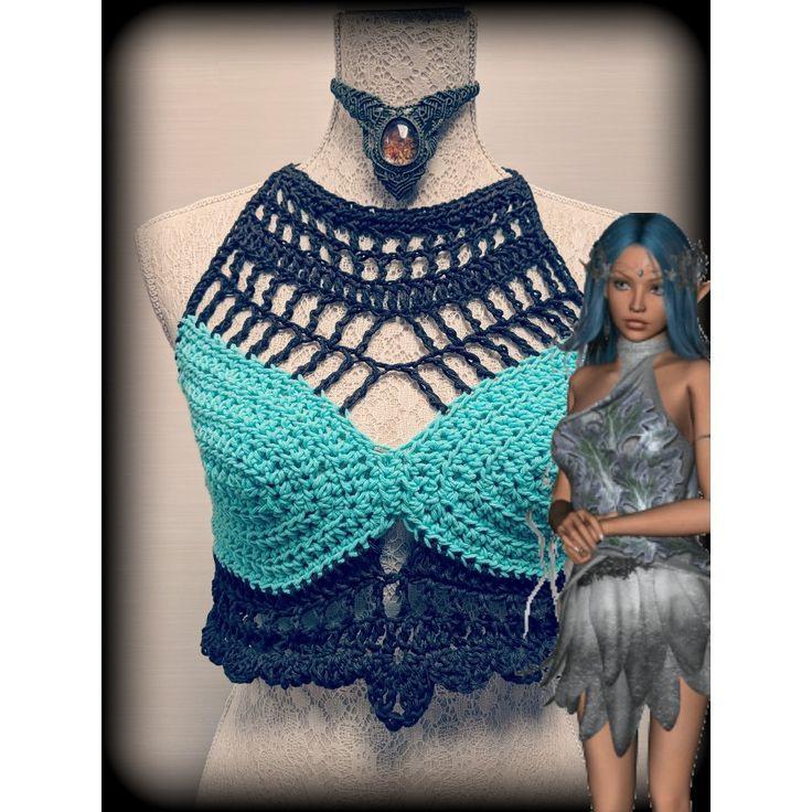 Crochet Bralette  Alternative Kleidung