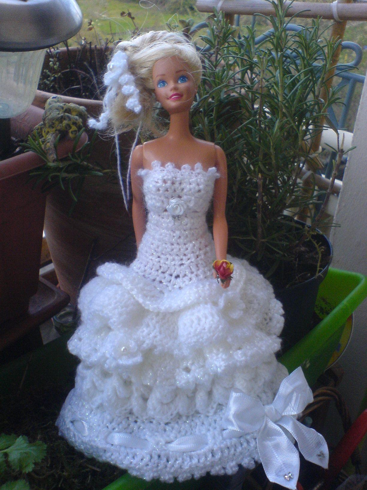 Crochet/Häkel Weddindress/Hochzeitskleid  Mannequins Barbie