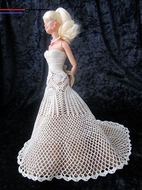Crochetedbarbiedollclothes In 2020  Barbie Hochzeit