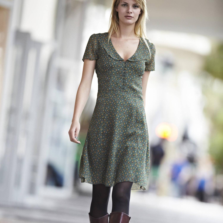 Cute Dress   Kleid Mit Bubikragen Bubikragen Kleider