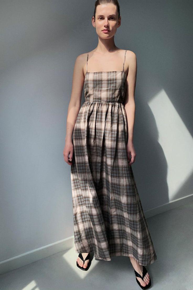 Платье В Клетку  Zara Украина  Kleider Damen