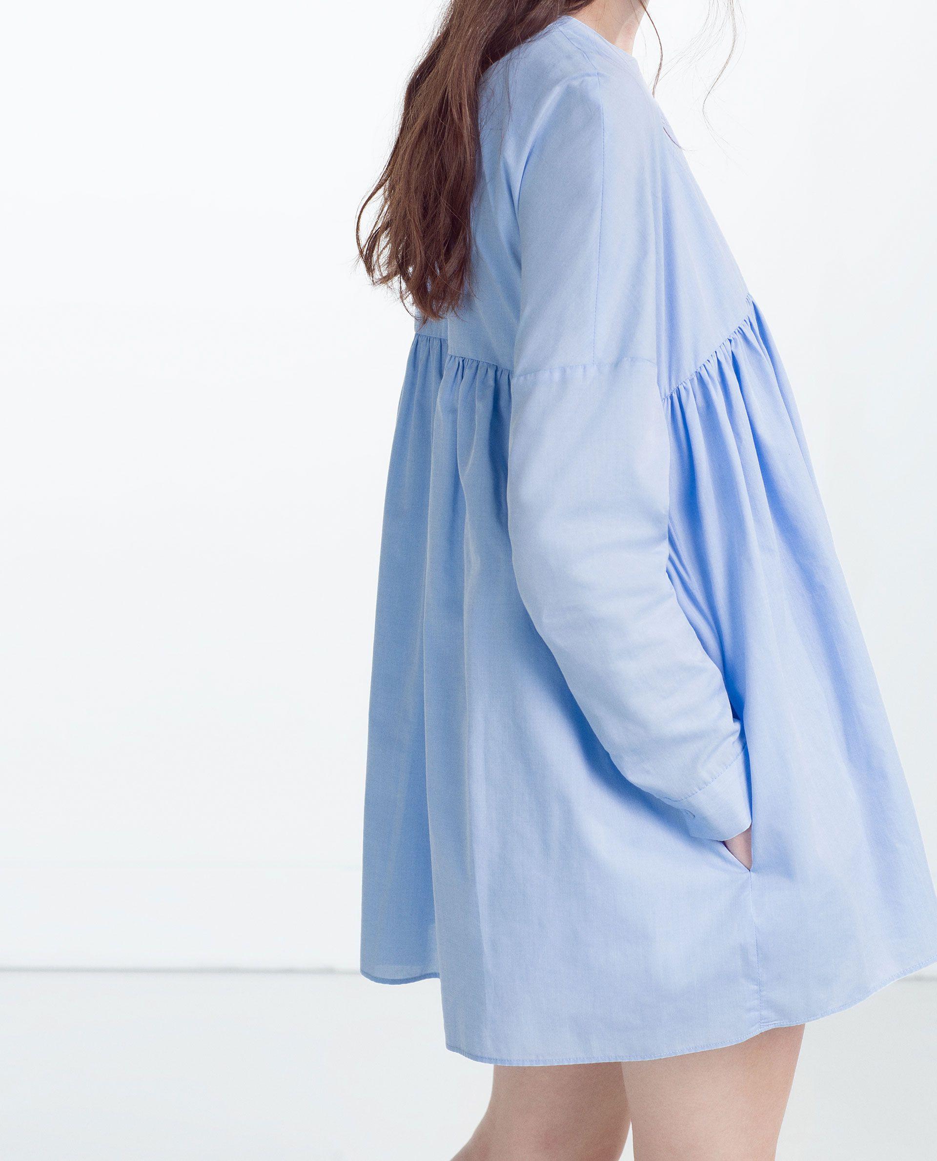 Платье  Комбинезон Из Поплина  Комбинезоны  Trf  Zara